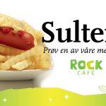Prøv en av våre menyer på Rock Cafe som ligger midt i parken på Mineralparken på Evje