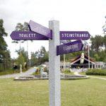 Skilt i parken på Mineralparken
