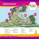 Parkkart som viser viktige steder og aktiviteter på Mineralparken på Evje.