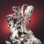 Sølvklump fra utstillingen på Mineralparken på Evje